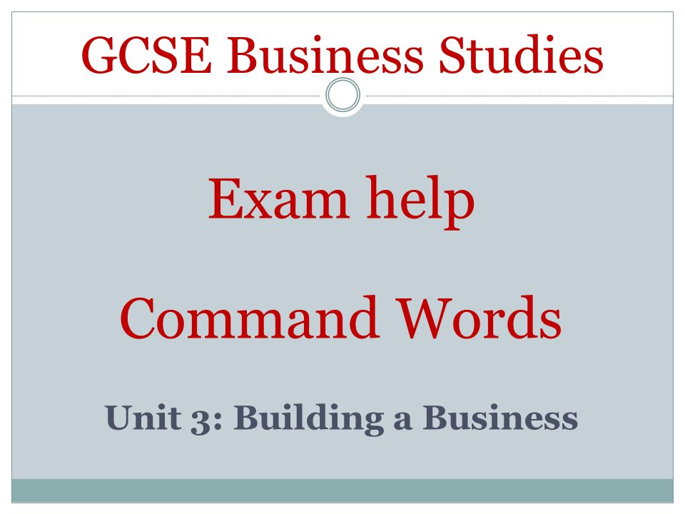 Who done GCSE business studies?