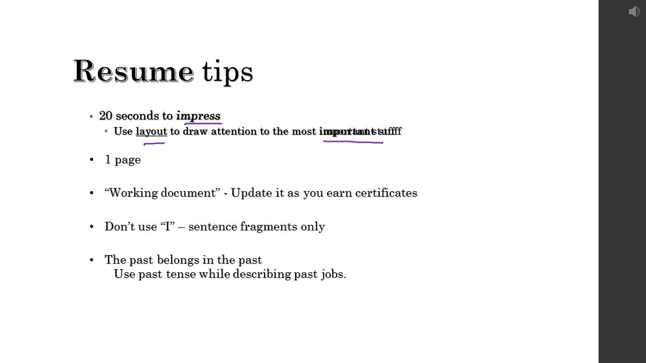 Beautiful Resume Tense For Past Jobs Contemporary - Entry Level ...