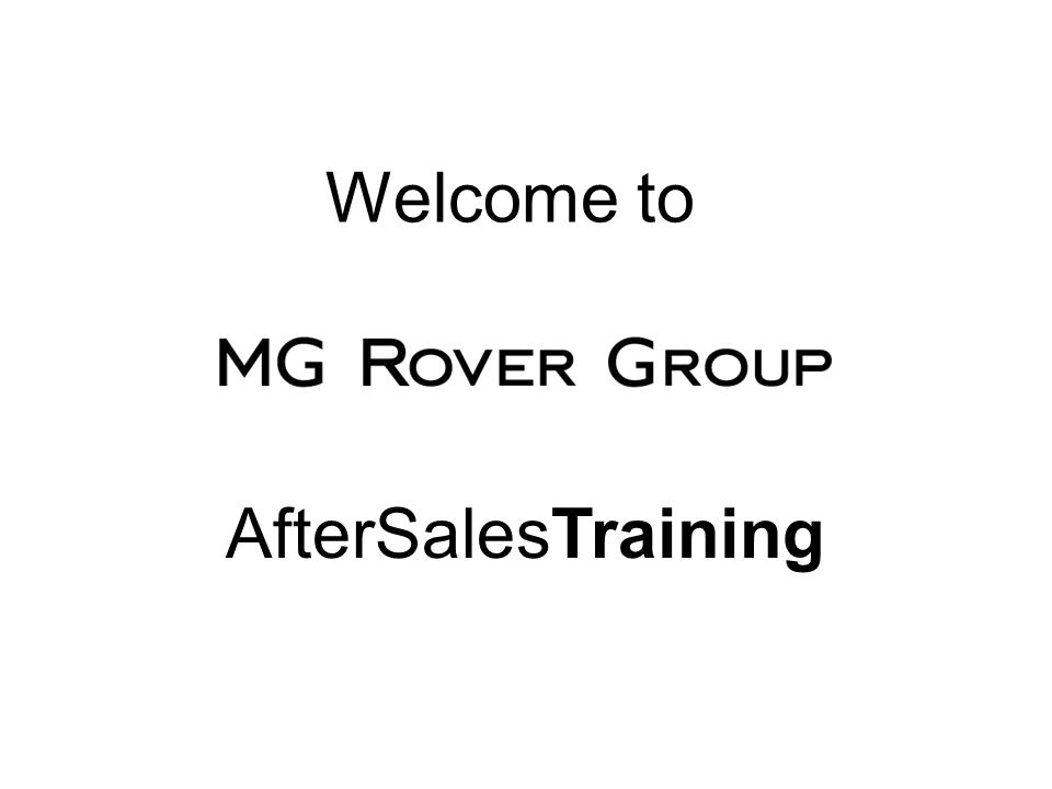 Welcome to AfterSalesTraining