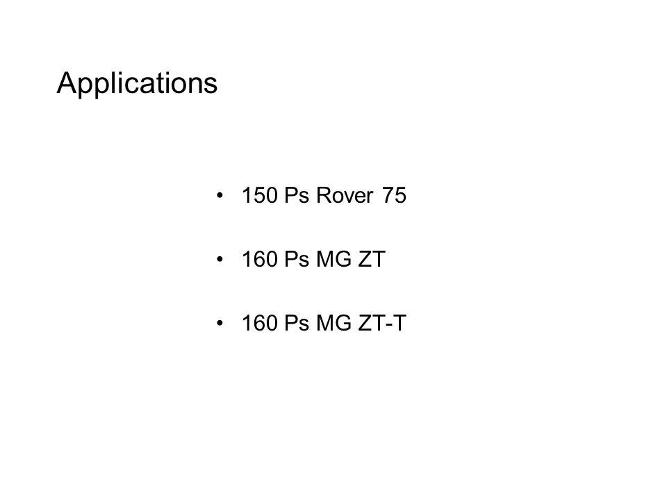 Applications 150 Ps Rover 75 160 Ps MG ZT 160 Ps MG ZT-T