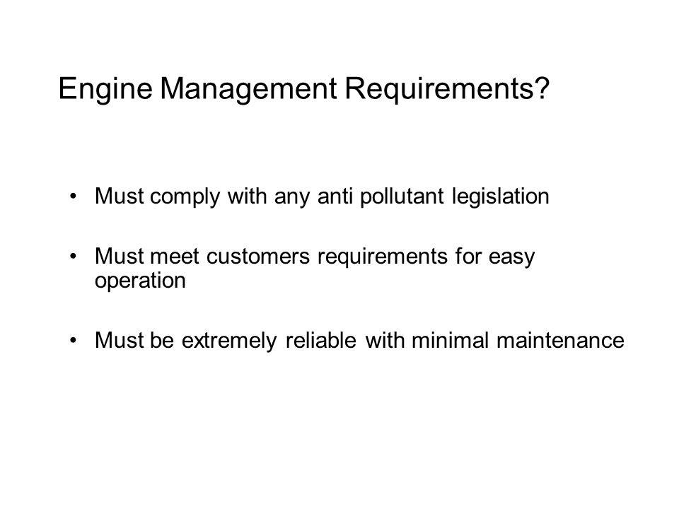 Engine Management Requirements.