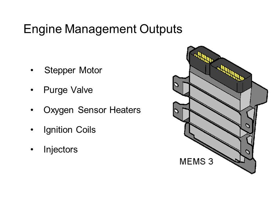 Engine Management Outputs Stepper Motor Purge Valve Oxygen Sensor Heaters Ignition Coils Injectors