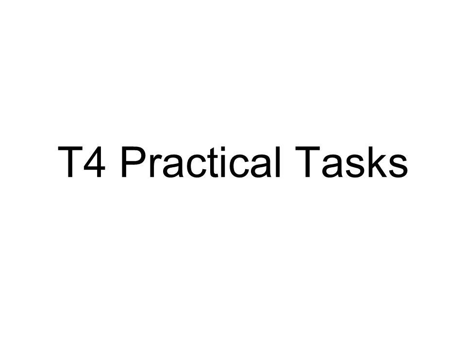 T4 Practical Tasks