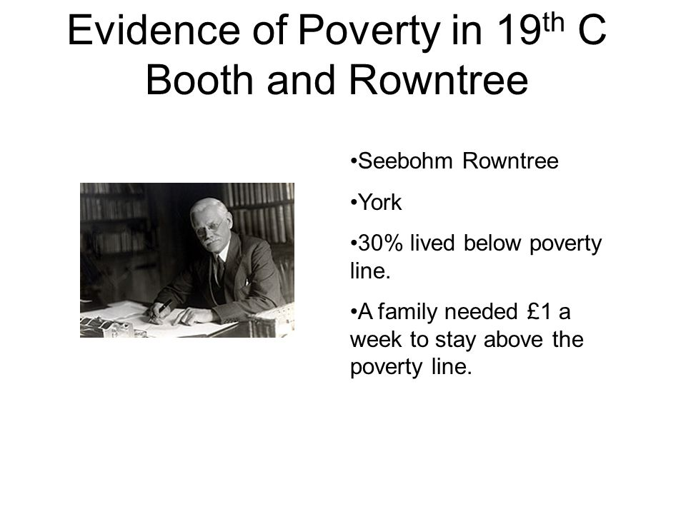 When did Booth and Rowntree write their reports?