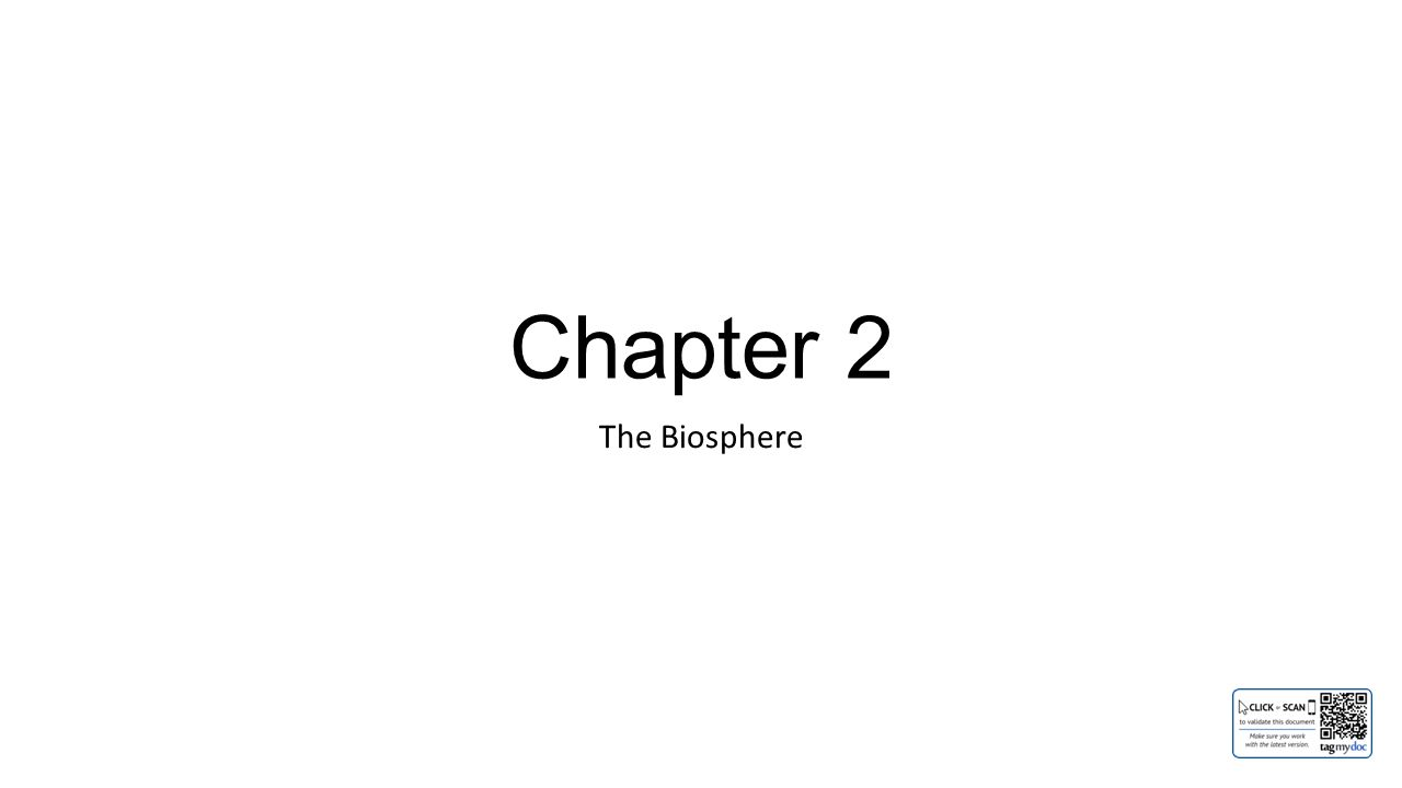 Chapter 2 The Biosphere