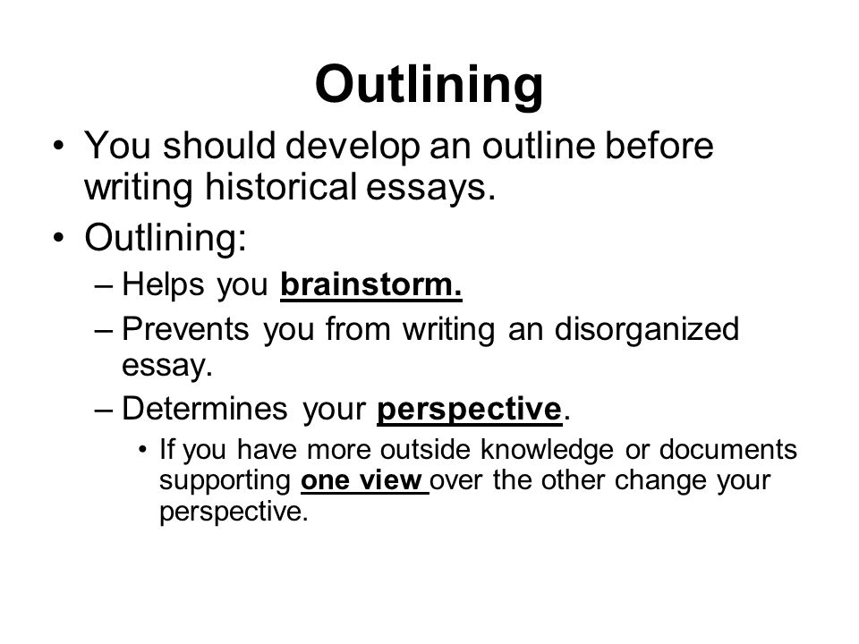 outlining essay writing