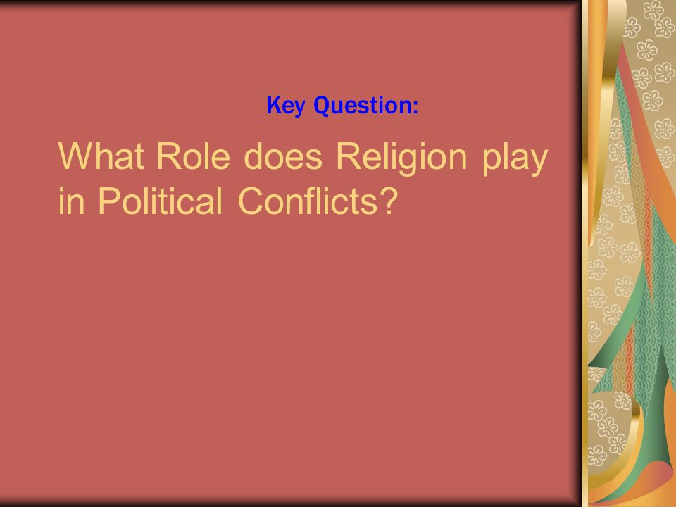 What role does religion play in government?