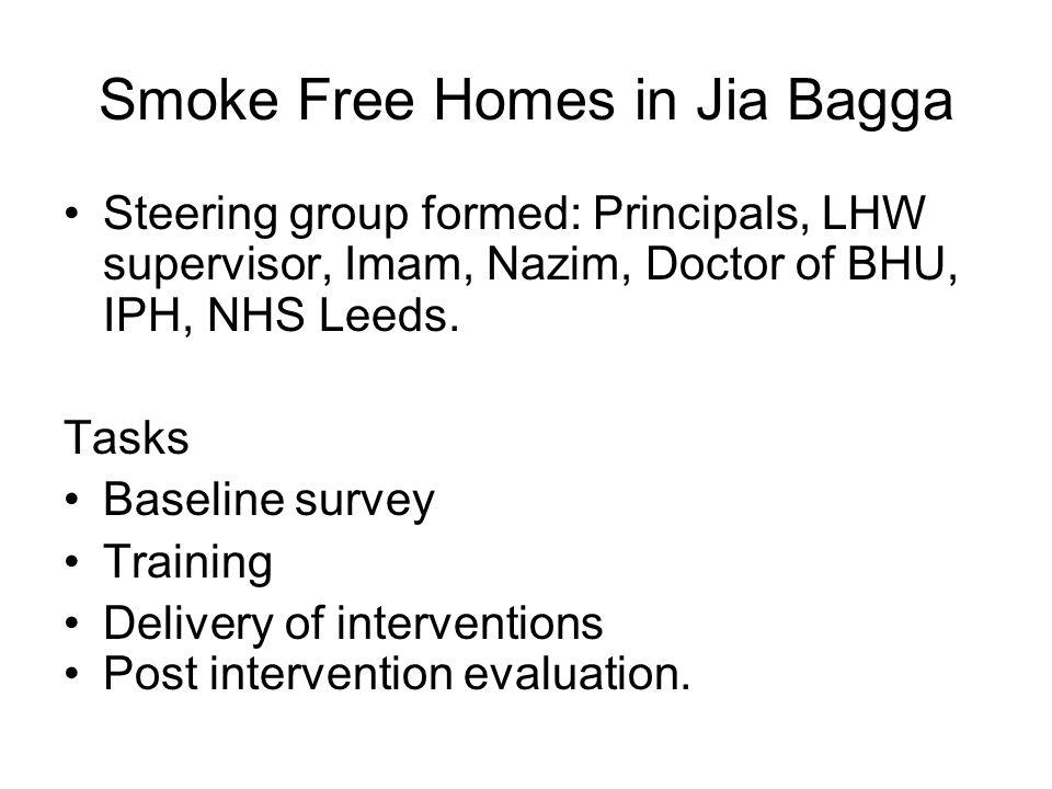 Smoke free homes project