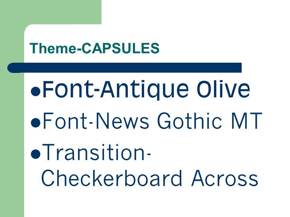 Theme-STREAM Font-Ariel Font-Lucida Sans Unicode Transition