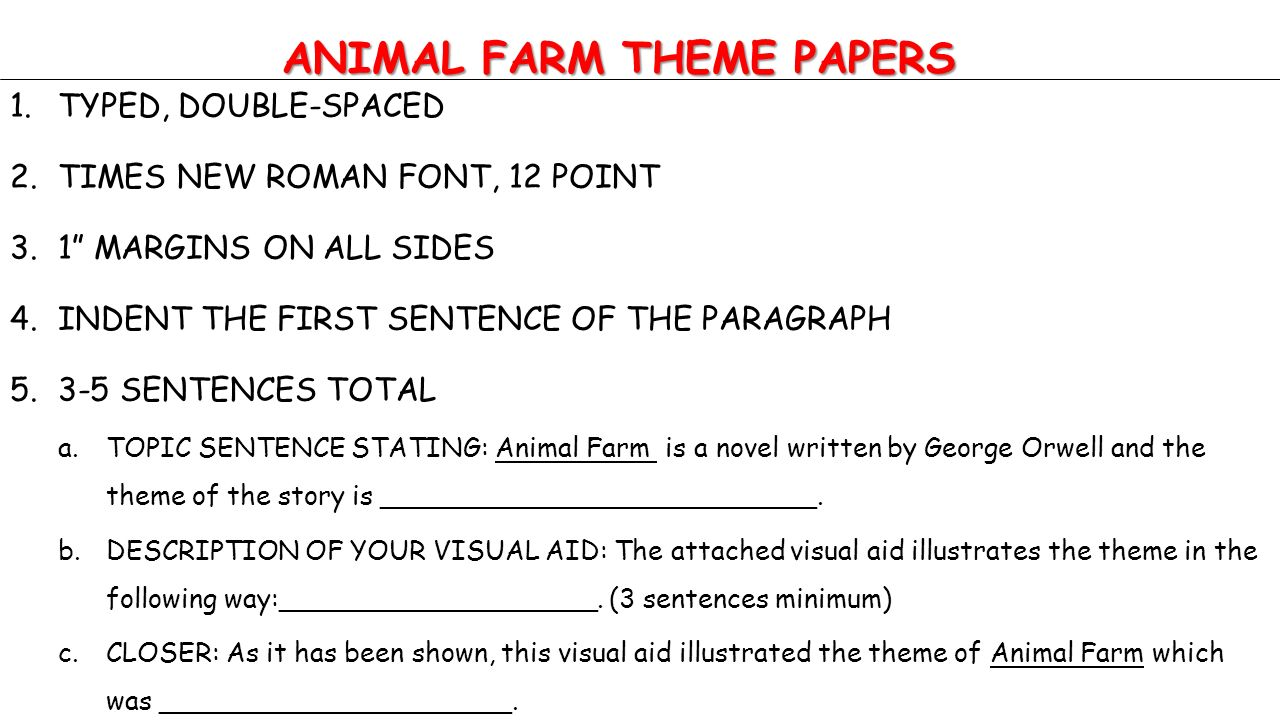 setting in animal farm essay example