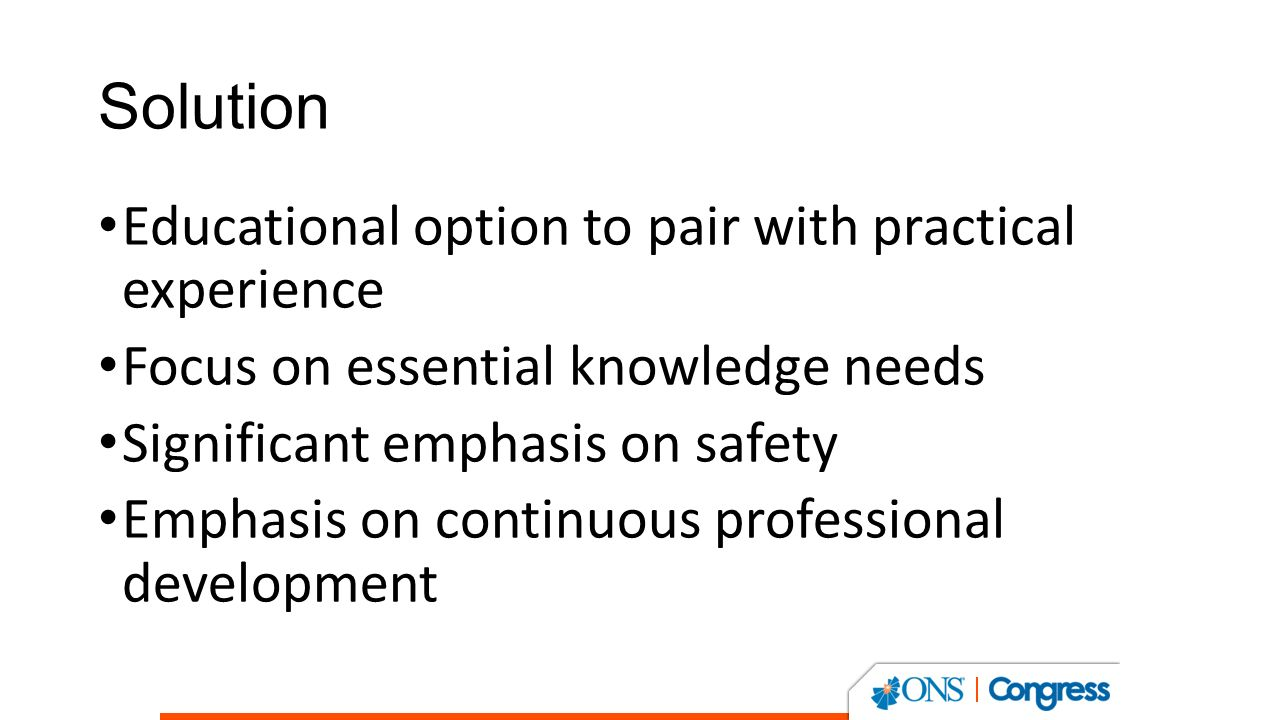 The ons standard for educating nurses administering chemotherapy 4 solution educational option to pair with practical experience focus on essential knowledge needs significant emphasis on safety emphasis on continuous xflitez Gallery