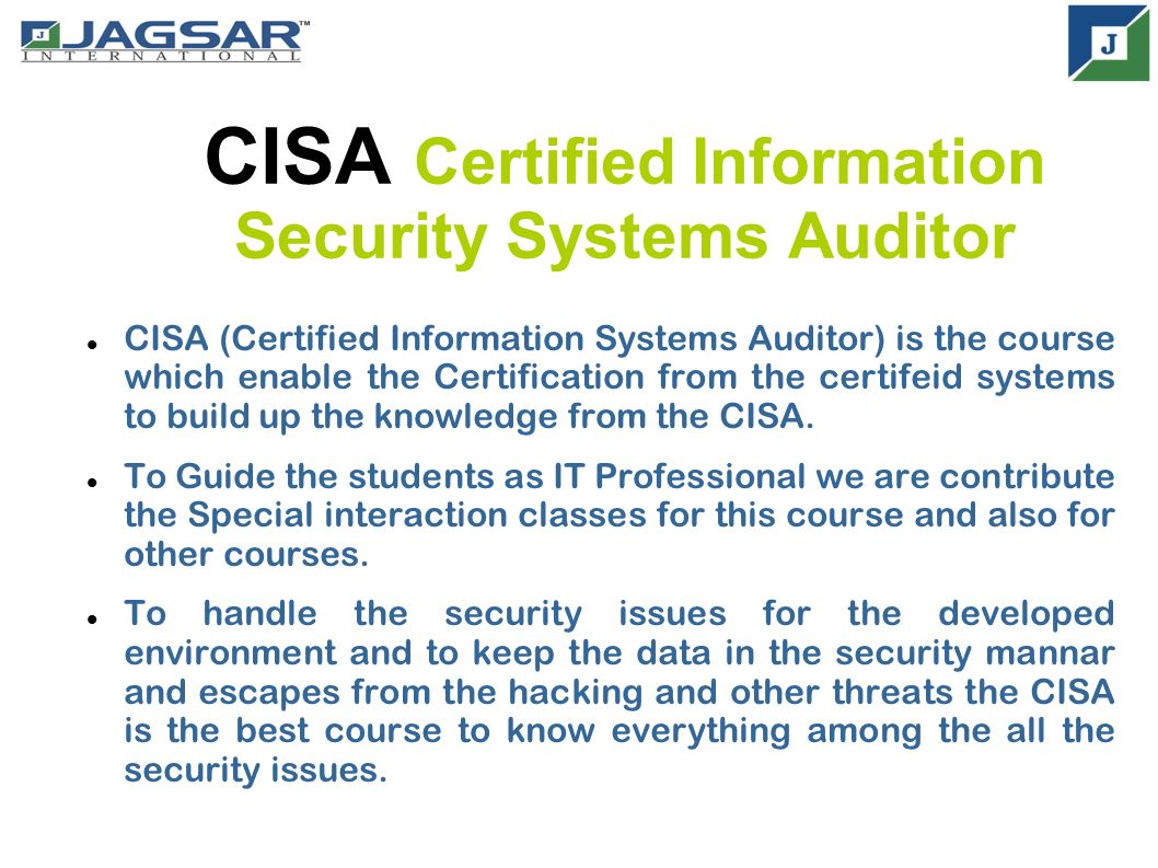 Cisa certified information systems auditor cisa certified cisa certified information security systems auditor cisa certified information systems auditor is the course 1betcityfo Image collections