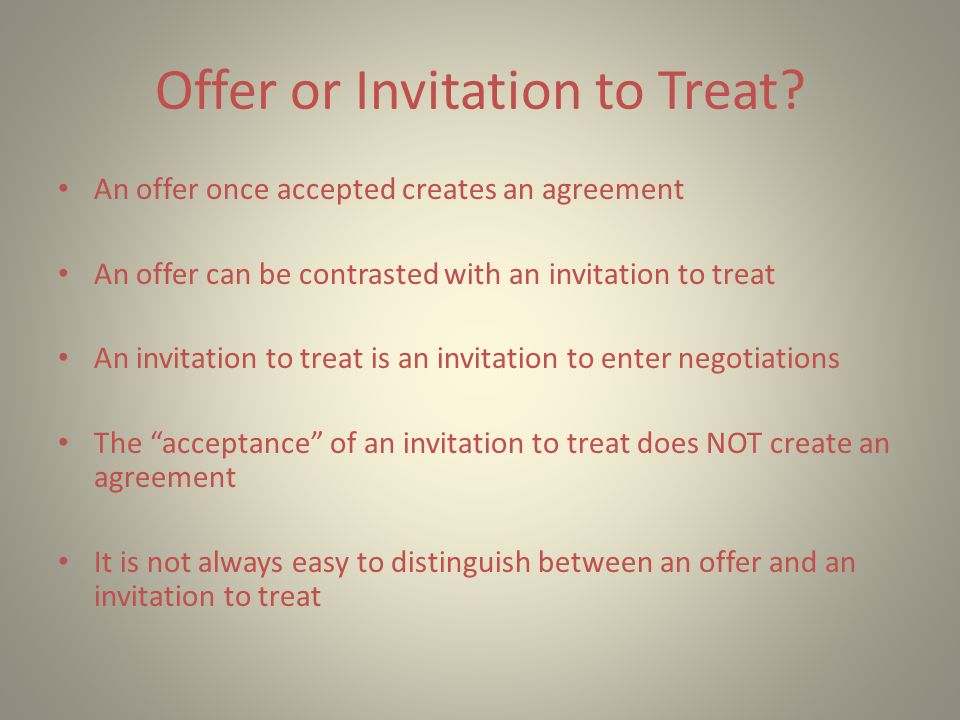 Introduction agreement offer and acceptance parties must show 4 offer or invitation to treat stopboris Choice Image