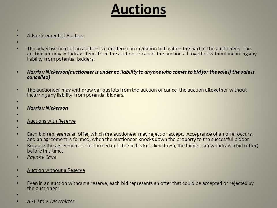 Introduction agreement offer and acceptance parties must show auctions advertisement of auctions the advertisement of an auction is considered an invitation to treat on stopboris Images