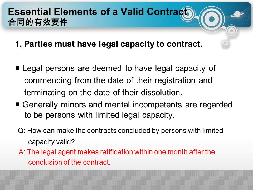 comment essential elements valid contract and importance e