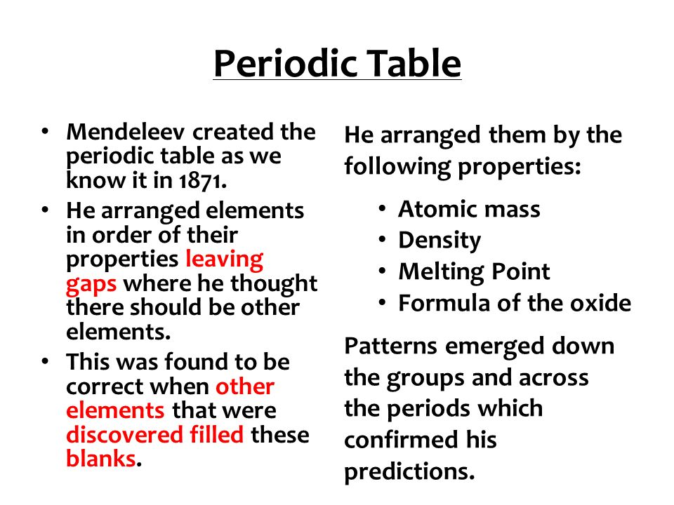C2 revision revision powerpoint for edexcel chemistry unit ppt download 2 periodic table urtaz Gallery