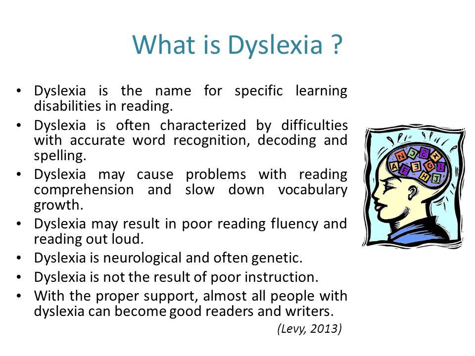 Dyslexia GTN 302/3 Community Nutrition & Dietetic Service Practicum ...