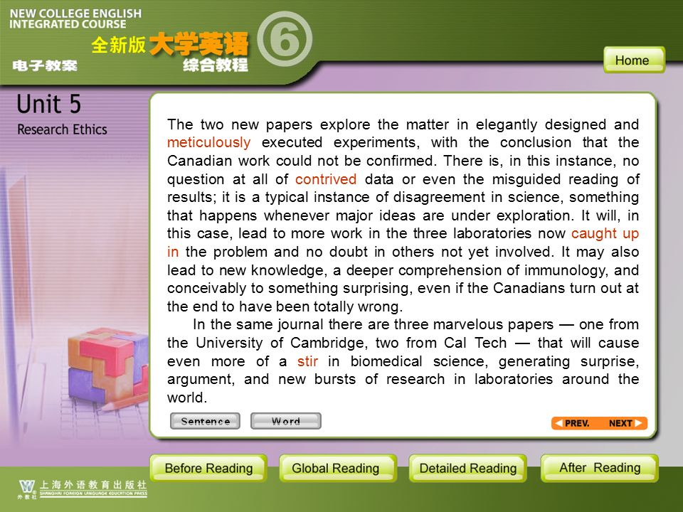 TEXT-W-8 The two new papers explore the matter in elegantly designed and meticulously executed experiments, with the conclusion that the Canadian work could not be confirmed.