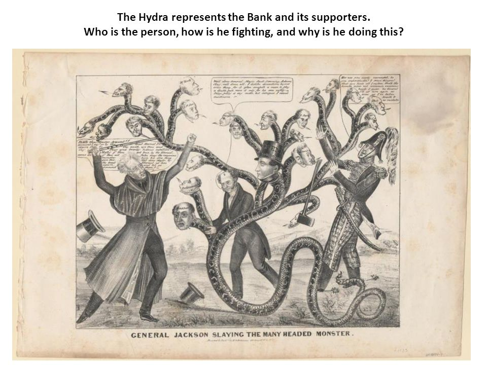 The Hydra represents the Bank and its supporters.