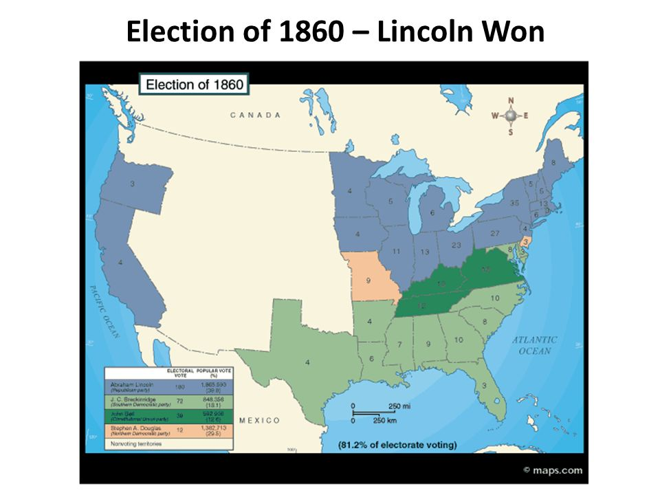 Election of 1860 – Lincoln Won