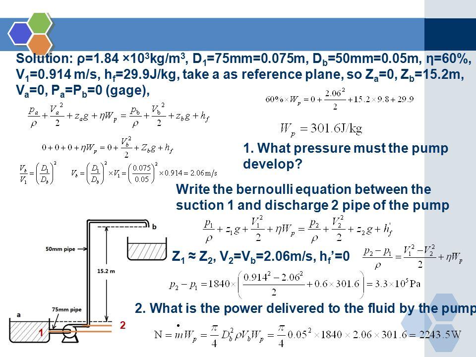 bernoulli 39 s equation pump. 30 solution: bernoulli 39 s equation pump