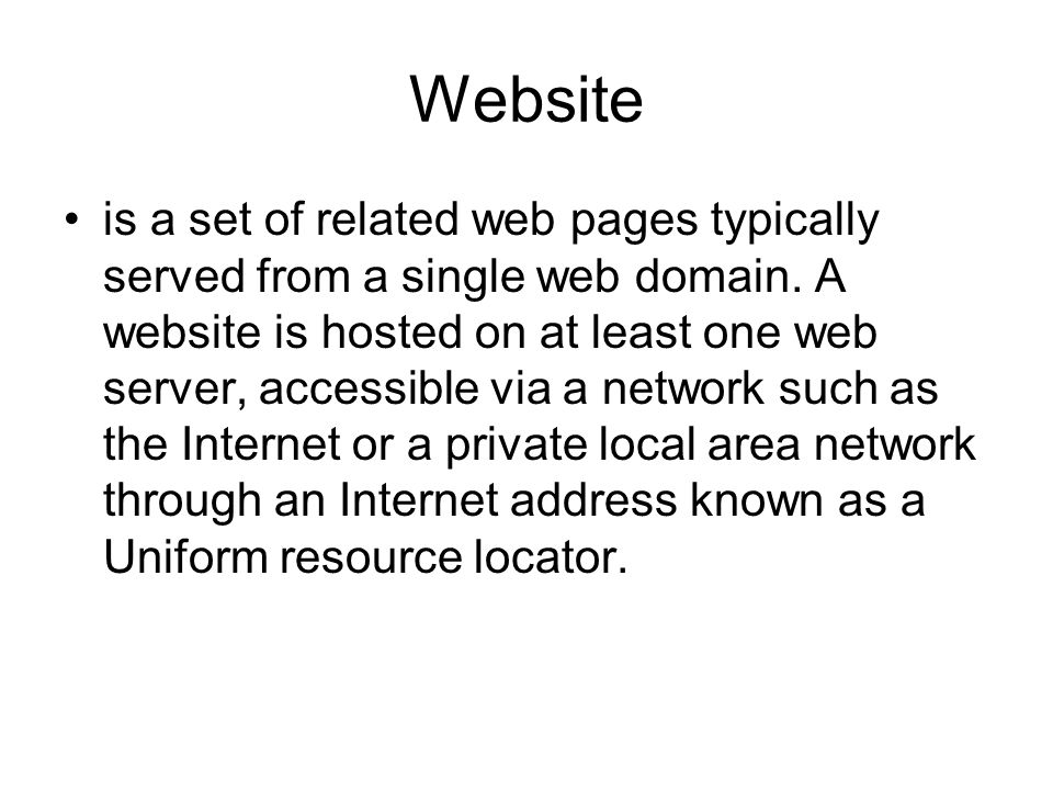 Website is a set of related web pages typically served from a single web domain.