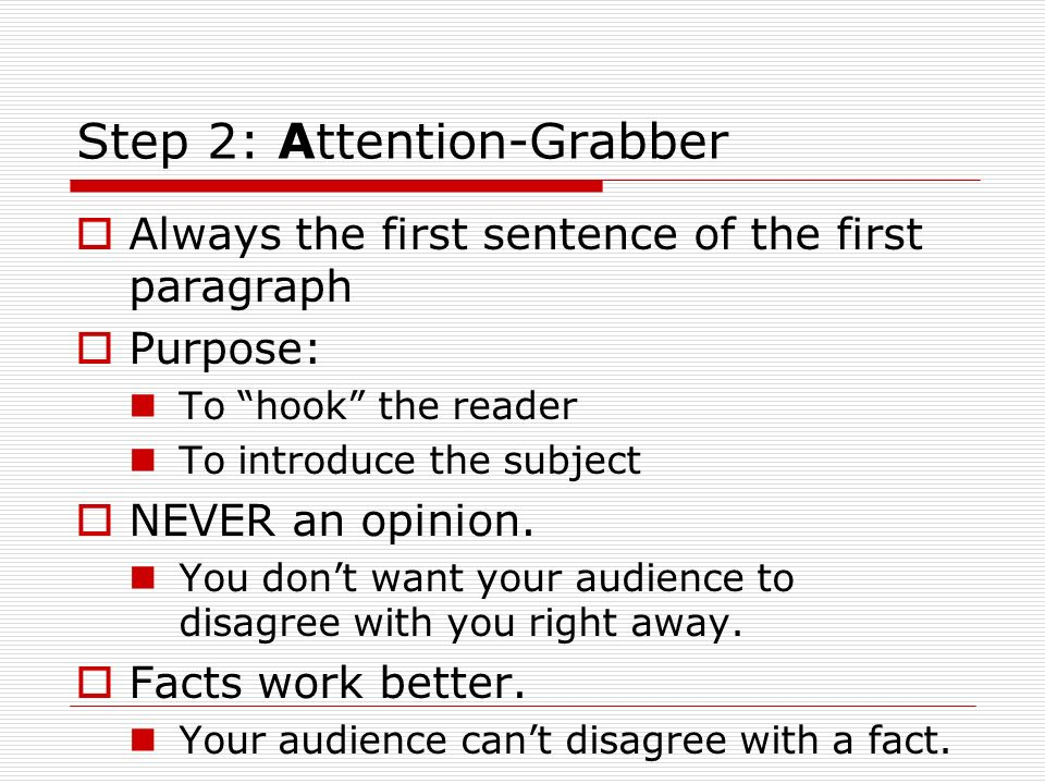 Good attention grabbers for college essays