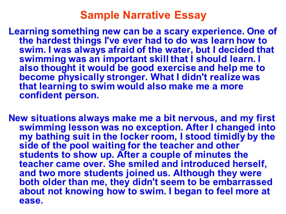 narrative essay 3 essay