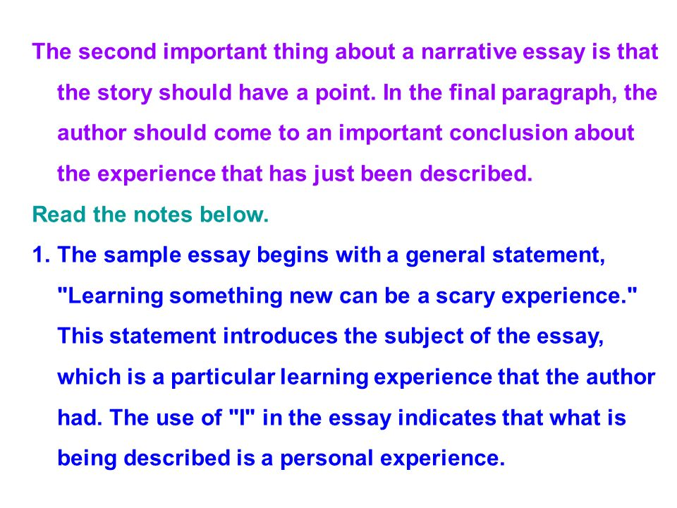 a story essay How can the answer be improved.