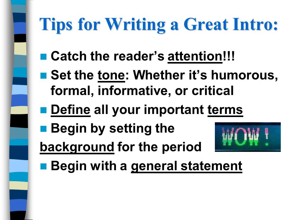 What are some tips to writing an essay?