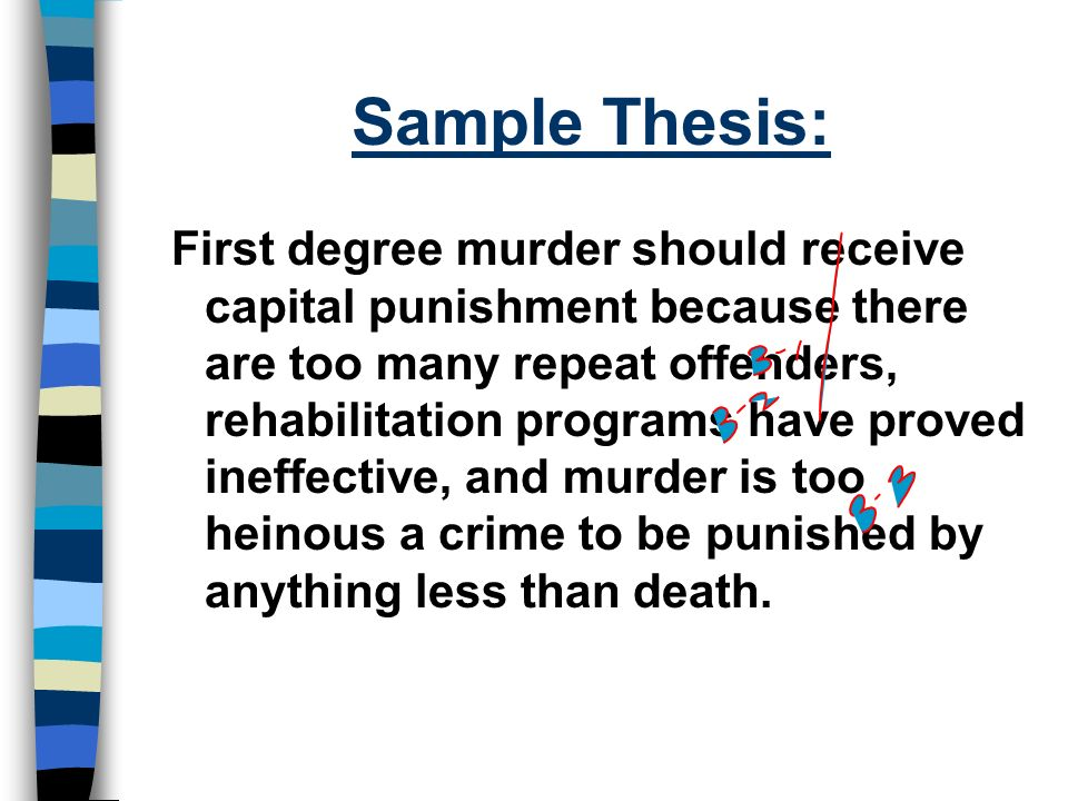 thesis statement for death penalty paper Research paper on death penalty by thesis or dissertation on death penalty topics from our professional cheap term papers personal statement help case.