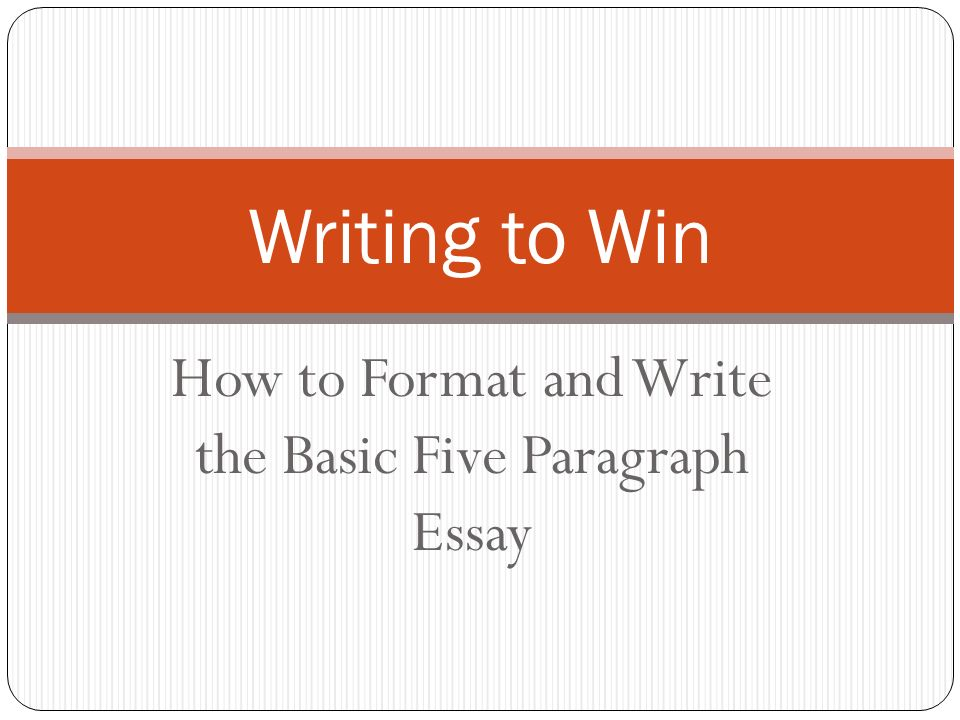 Writing A Essay Outline