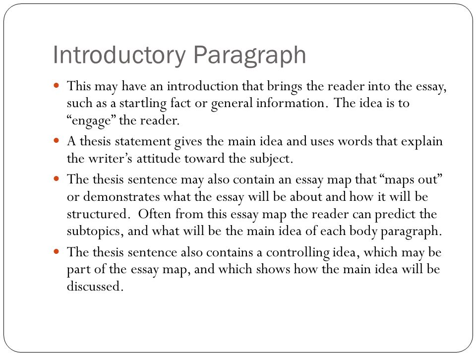 how to format and write the basic five paragraph essay writing to  5 introductory paragraph