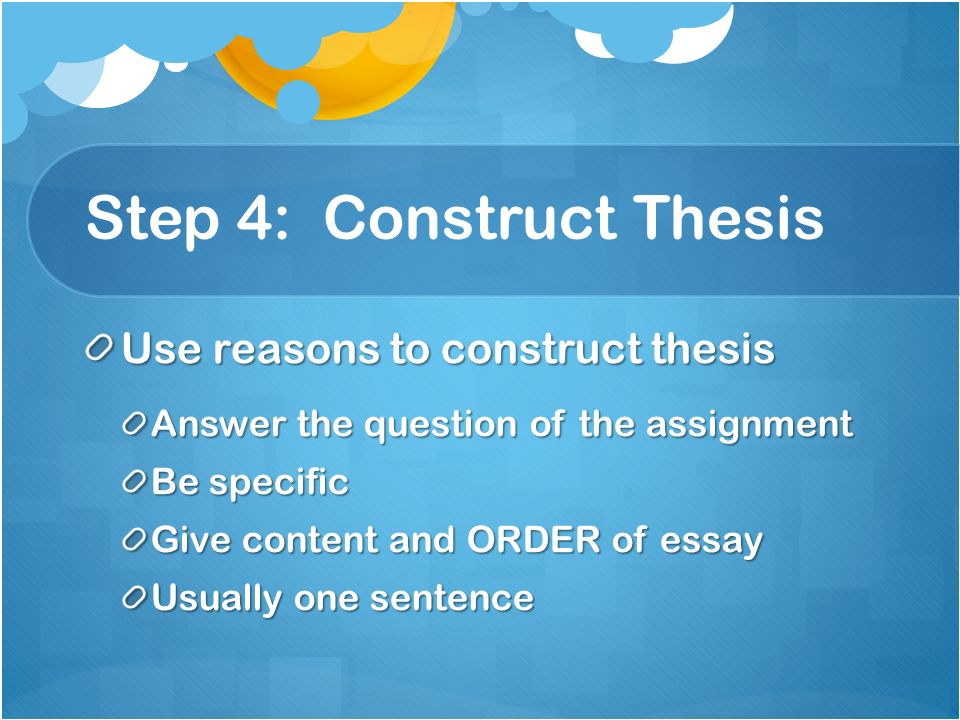 How To Construct A Thesis Statement