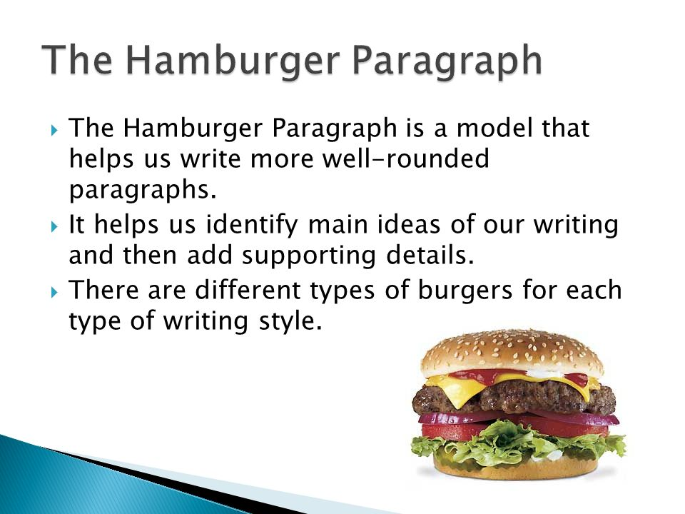 essay like hamburger What does a hamburger have to do with persuasive writing plenty if you're a student in the rural jackson county, wv, school system the district last year.