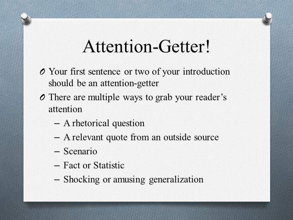 attention grabber essay