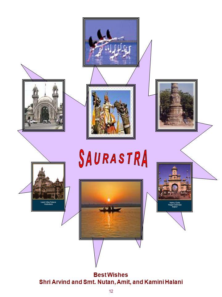 12 Best Wishes Shri Arvind and Smt. Nutan, Amit, and Kamini Halani