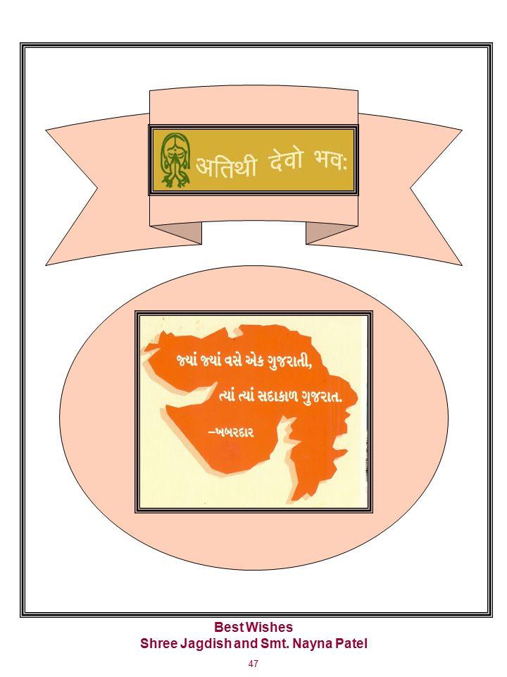 47 Best Wishes Shree Jagdish and Smt. Nayna Patel