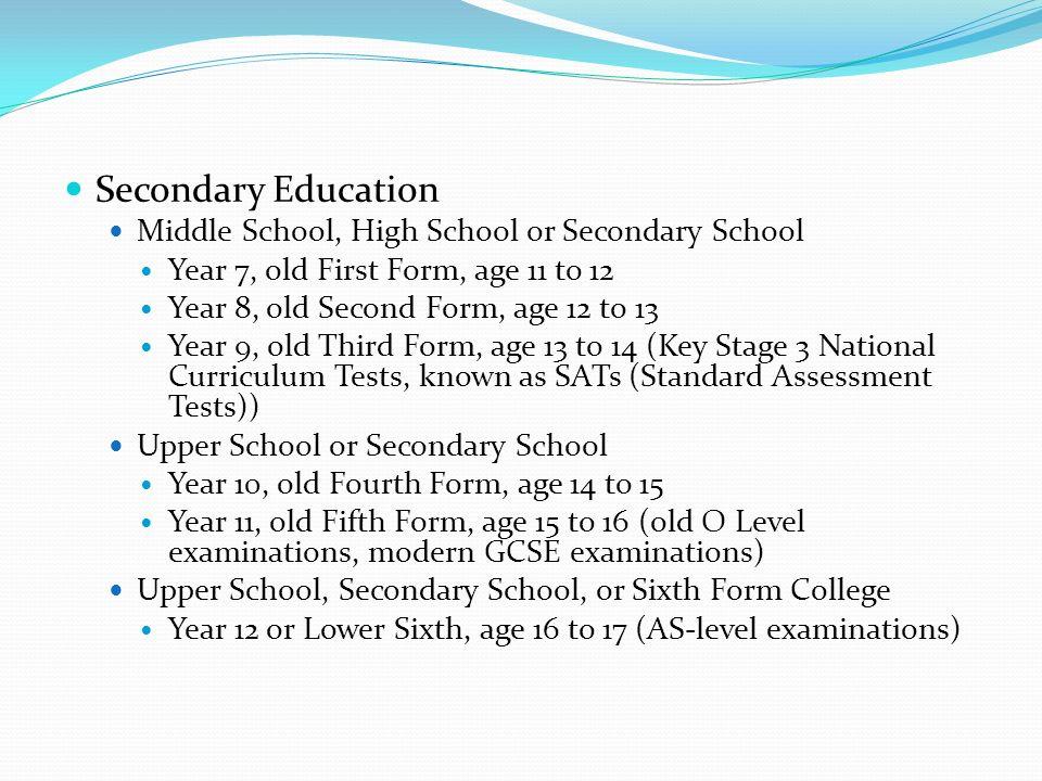 OXBRIDGE 1. STAGES OF BRITISH EDUCATION. Primary Education Infant ...