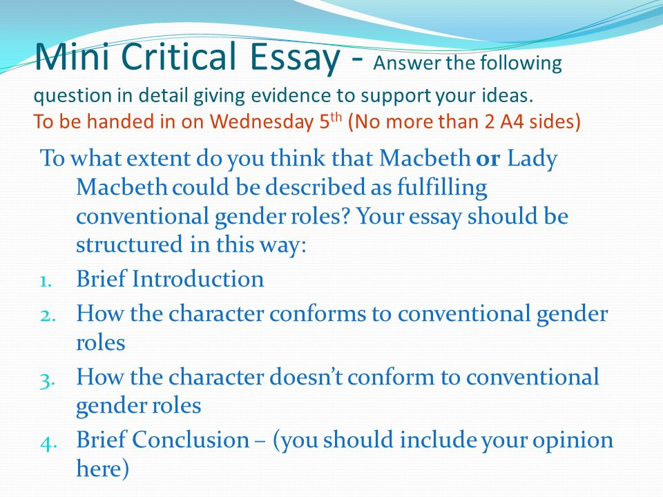 macbeth essay conclusions