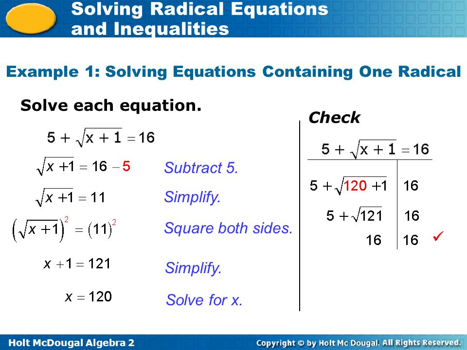 Solving Radical Equations Worksheet Worksheets for all | Download ...