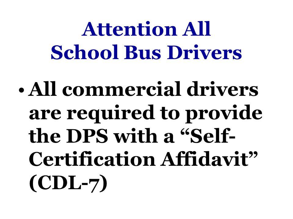 Texas Commercial Driver License Self Certification Affidavit ...