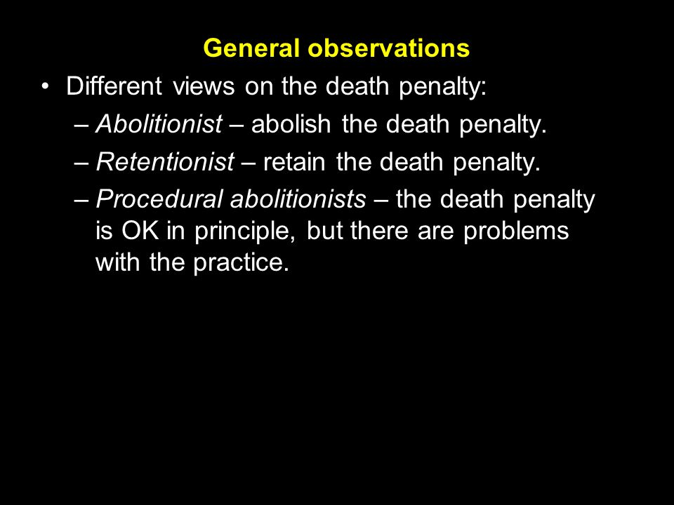 an analysis of the morality in the death penalty