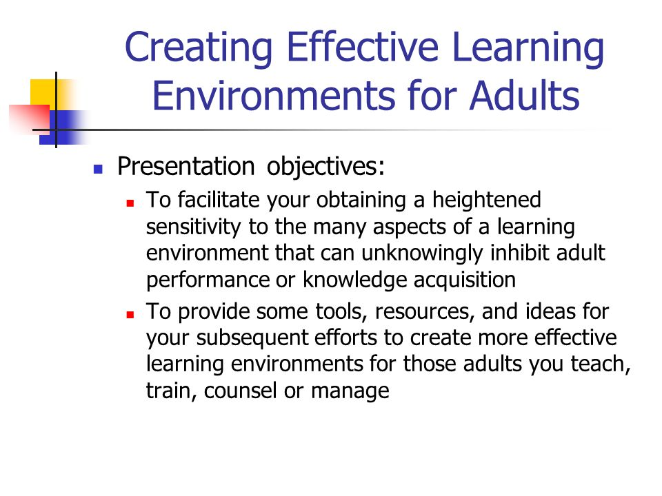 effective adult learning Effective adult learning [robert j birkenholz] on amazoncom free shipping on qualifying offers book by birkenholz, robert j.