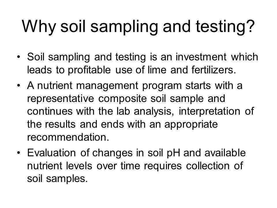 Soil Sampling for Fertilizer and Lime Recommendations. - ppt download