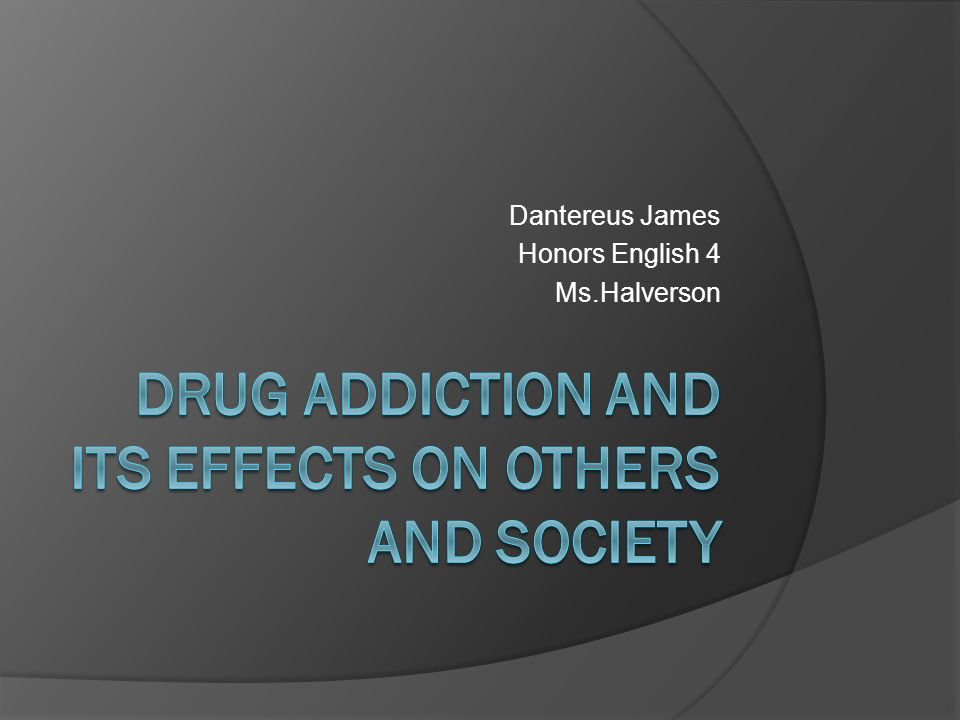 Thesis Statement On Drug Abuse