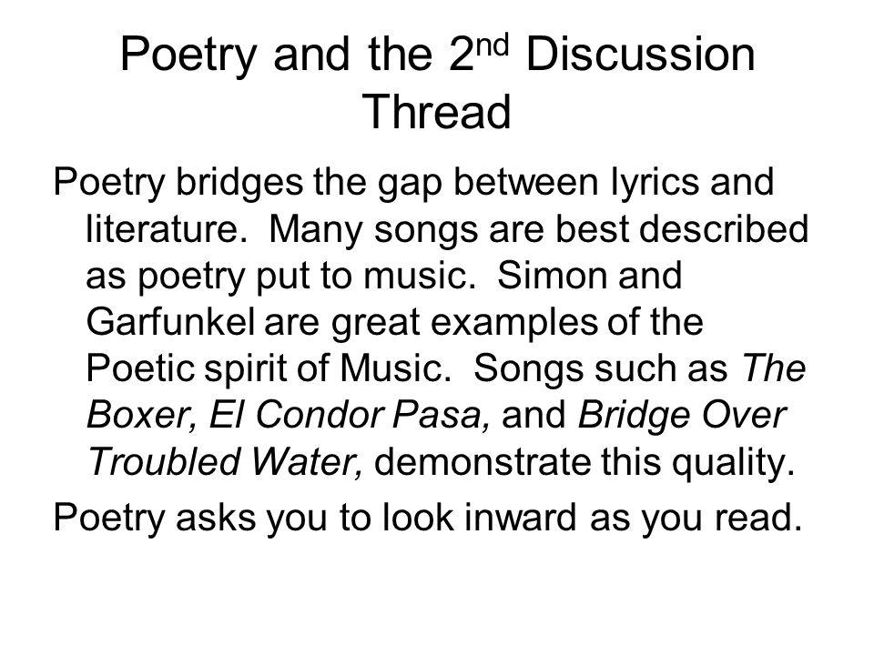 Lyric simon and garfunkel america lyrics : Arts and Humanities Chapter 4 Literature. Binding Generations The ...