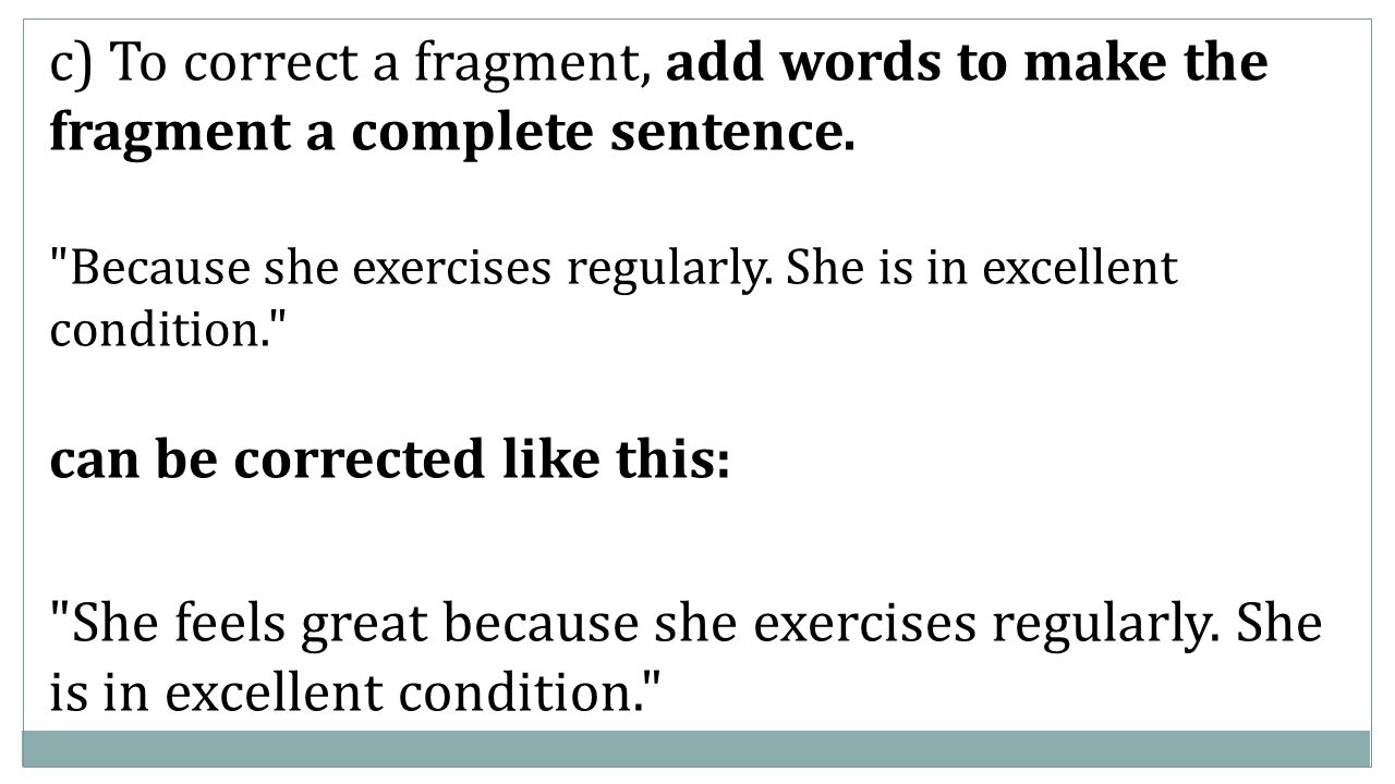 Day 13 foundations english i objects quiz research paper intro c to correct a fragment add words to make the fragment a complete sentence robcynllc Images