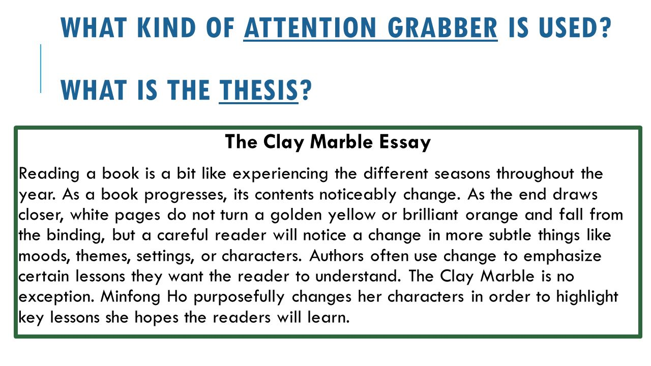 introduction paragraphs introduction paragraph structure what kind of attention grabber is used what is the thesis