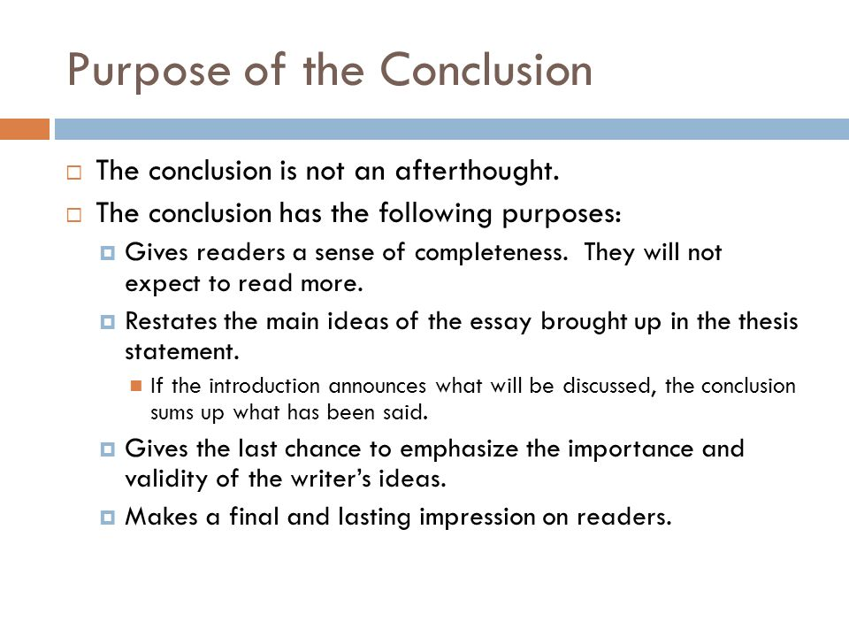concluding a essay Here are some examples of conclusions a good conclusion will: rephrase the question summarize the main ideas give your opinion, if you haven't given it already.